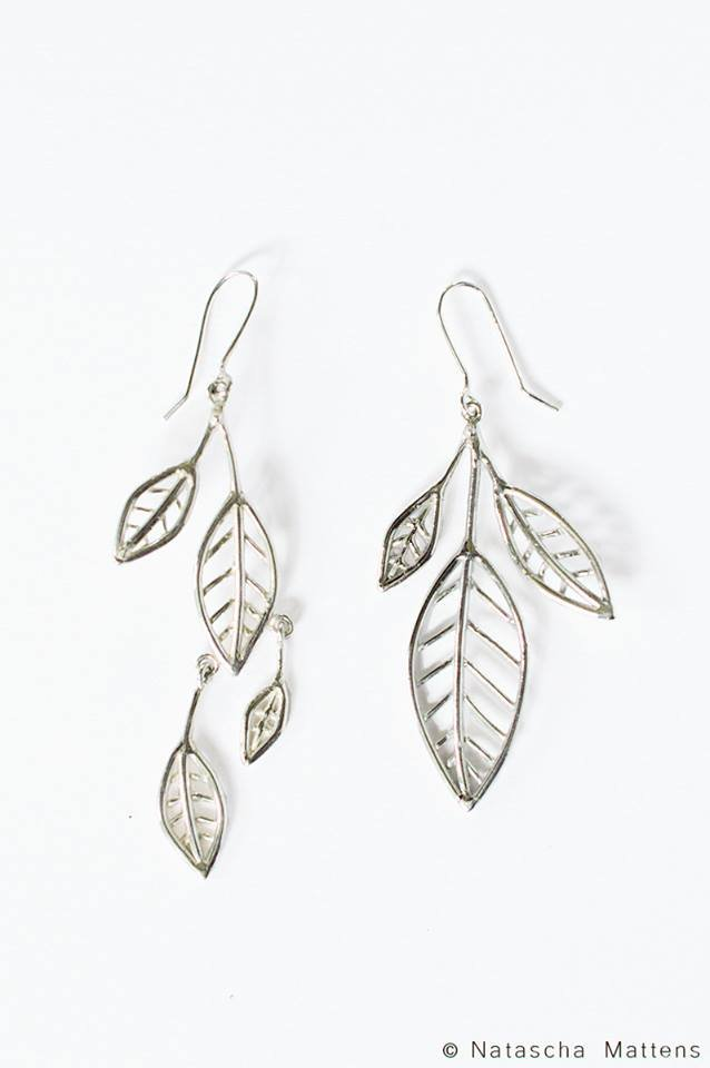 sterling silver earrings inspired by nature
