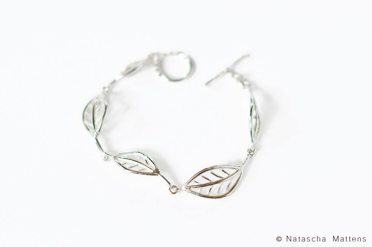 sterling silver necklace inspired by nature