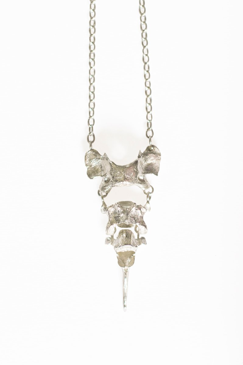 sterling silver vertebrae necklace