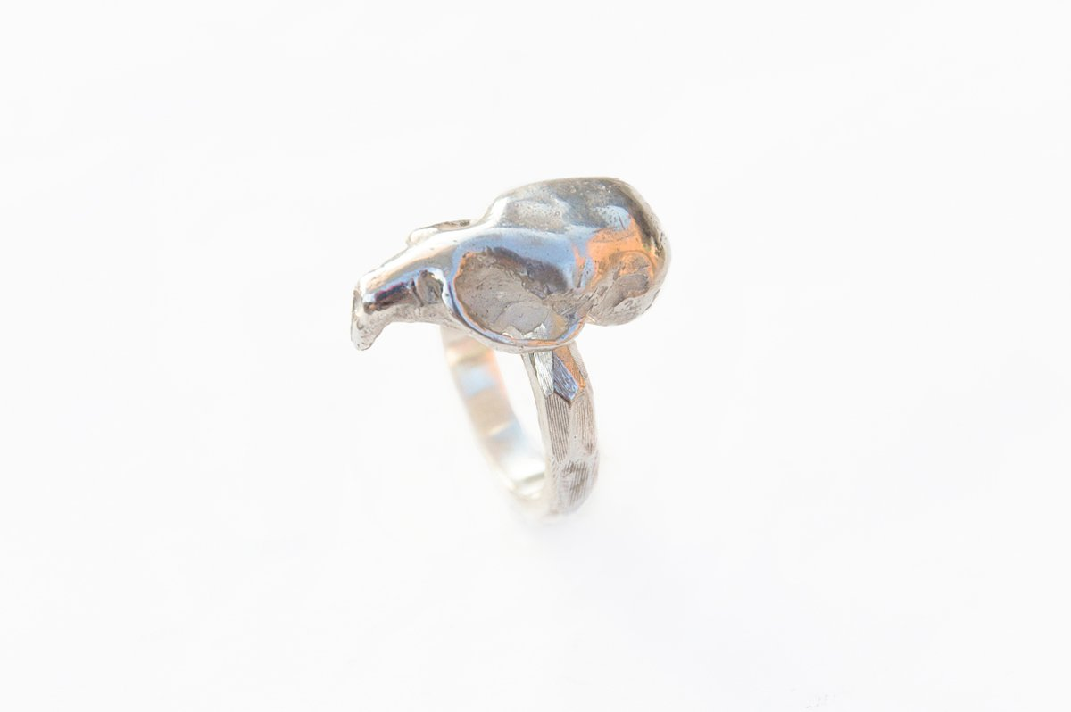 sterling silver mouse skull ring