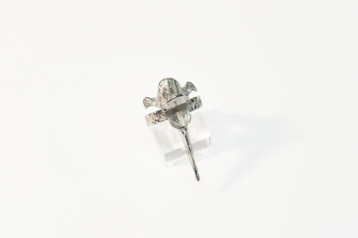 sterling silver vertebrae ring